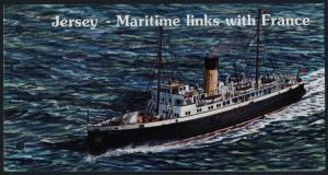 Jersey 975-80 in Presentation Folder MNH - Ships, Maritime Links with France