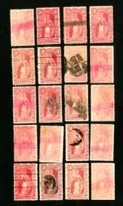 US Stamps # PR119 F-VF Lot of 20 scarce used Scott Value $1,500.00