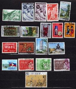 J23054 JLstamps 1960,s various taiwan china used designs #