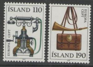 ICELAND SG570/1 1979 EUROPA MNH