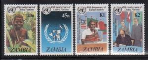 Zambia 335-8 UN Anniversary Mint NH
