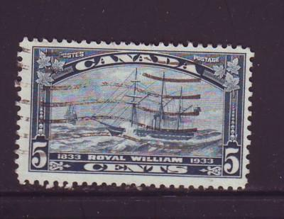 Canada Sc 204 1933 5 c Ship Royal William stamp used