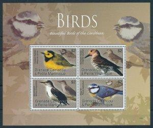 [108892] Carriacou & Petite Martinique 2007 Birds vögel Warbler Mini sheet MNH