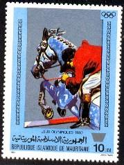 Equestrian, 22nd Olympics 1980 Moscow, Mauritania SC#446 MNH