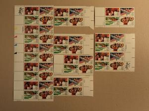 USPS Scott C105-08 40c 1983 Summer Olympics 84 Lot Of 7 P...