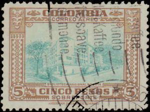 Colombia #C163, Incomplete Set, High Value, Used