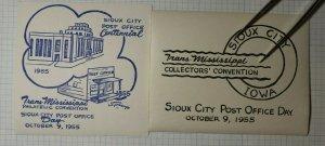 TMPS Convention Sioux City IA 1955 Philatelic Souvenir Ad Label Set of 4