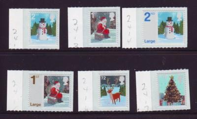 Great Britain Sc 2412-17 2006 Christmas stamps NH