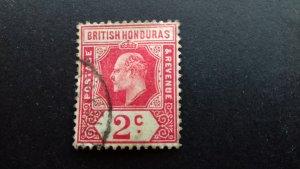 British Honduras 1905 -1911 As Previous, Different Watermark  Used