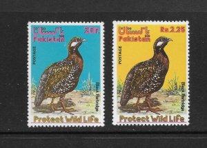 BIRDS - PAKISTAN #387-8  MNH