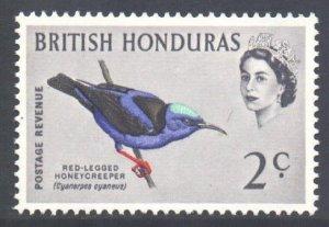 Br Honduras Scott 168 - SG203, 1962 Birds 2c MNH**