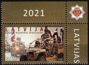 LATVIA 2021-14 MILITARY: National Guard of Latvia - 30, Flags. CORNER, MNH