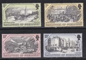 Guernsey MNH 157-60 19th Century Painting Prints