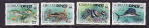 Kiribati-Sc#587-90-Unused NH set-Marine Life-Fish-Expo '92-please note there is