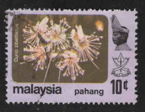 Malaysia - Pahang Scott 108 Used new Sultan flower stamp 1979