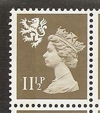 Great Britain Scotland SMH16 11 1/2p Machin MNH
