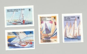 British Virgin Islands #631-634 Sailing, Yachts 4v Imperf Proofs