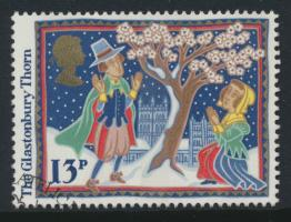 Great Britain  SG 1342 SC# 1163 Used / FU with First Day Cancel - Christmas 1986