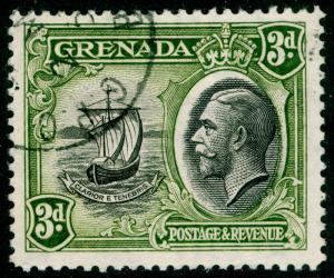 GRENADA SG140, 3d black & olive-green, FINE USED.