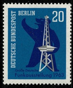 GERMANY BERLIN 1963 BROADCASTING EXHIBITION MINT (NH) SG B226 P.14 SUPERB