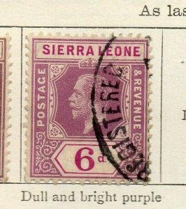 Sierra Leone 1912 Early Issue Fine Used 6d. NW-113728