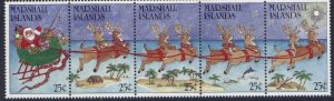 Marshall Islands 199a MNH Christmas, Santa Claus, Reindeer