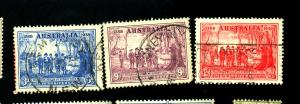 Australia #163-5 Used F-VF Cat $17