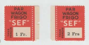 France Cinderella Fiscal Revenue Stamp 7-29- MNH gum- Nice- scarce