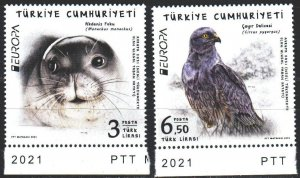 Turkey. 2021. Birds, seal, Europe sept. MNH.