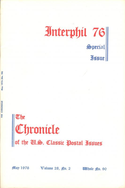 The Chronicle of the U.S. Classic Issues, Chronicle No. 90