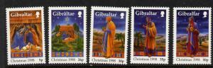 Gibraltar 774-8 MNH Christmas, Art
