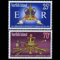 NORFOLK IS. 1978 - Scott# 229-30 Coronation Set of 2 NH