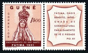 Portuguese Guinea 275, MNH. Holy Year Conclusion. Our Lady of Fatima, 1951