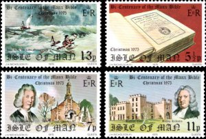 Isle Of Man MNH 74-7 Manx Bible & Christmas 1975
