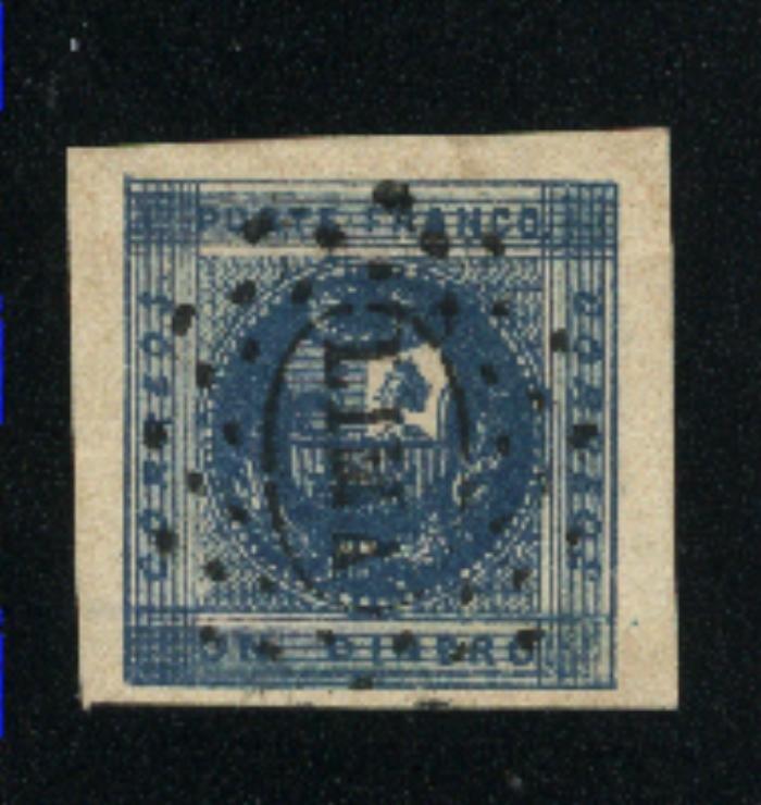Peru #3  used  1858 PD