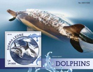 Sierra Leone MNH S/S Dolphins Marine Life 2016