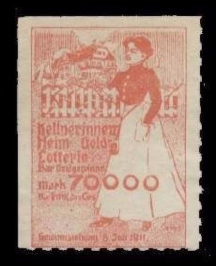 Germany 1911 Lottery Poster Stamp