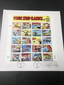 US 3000 Comic Strip Classics Souvenir Sheet Of 20 First Day Cover 1995