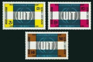 Cambodia 289-291,MNH.Michel 332-334. World Telecommunications Day 1972.