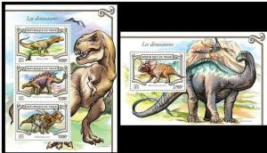 Niger 2015 prehistoric animals dinosaurs nice klb+s/s MNH