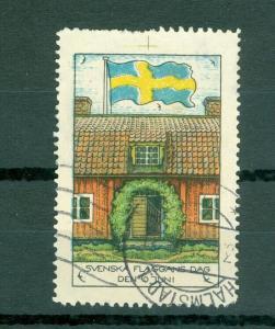 Sweden Poster Stamp 1931. National Day June 6. House,Swedish Flag. Cancel