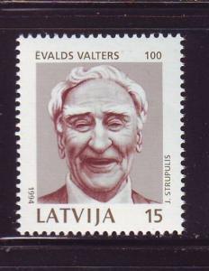 Latvia Sc 355 1994 Evald Walters stamp mint NH