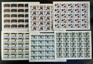 Stamps Full Set in Sheets Olympic Games Innsbruck 76 Guinea Bissau Imperf.