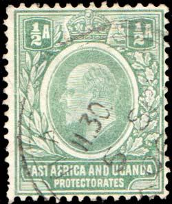 East Africa and Uganda Scott 17 Used.