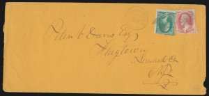 US 148 6c & 147 3c Lincoln & Washington on Cover to Flagtown, NJ