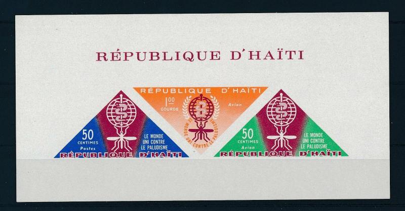 [19607] Haiti 1962 Anti Malaria Mosquito WITHOUT inscription Imperf. Sheet MNH