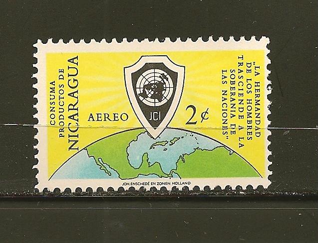 Nicaragua C475 Globe Airmail Mint Hinged