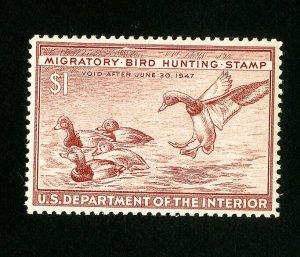 US Stamps # RW13 Superb OG NH Catalog Value $50.00
