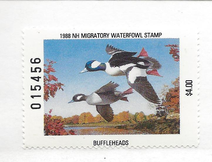 United States, NH6,New Hampshire 1988 $4 Buffleheads Sgl,MNH