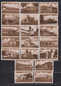 CINDERELLA STAMPS  ON CITY OF CALIFORNIA (19)   LOT#C-168